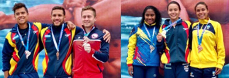 3 oros para colombia en nado sincronizado
