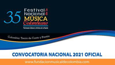 INVITACIÓN A DUETOS Y COMPOSITORES PARA QUE SE INSCRIBAN A LA VERSIÓN 35 DEL FESTIVAL NACIONAL DE MÚSICA COLOMBIANA
