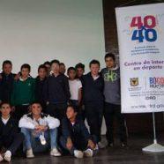 CAMPEÓN MUNDIAL DE NATACIÓN CON ALETA DE VISITA EN EL COLEGIO RAFAEL BERNAL
