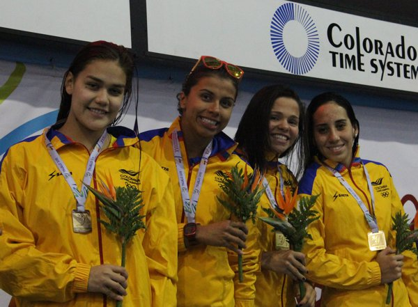 4x100 natacion relevo femenino bolivarianos