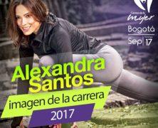 ALEXANDRA SANTOS, LA IMAGEN DE LA CARRERA DE LA MUJER 2017