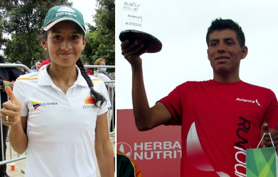 Angie Orjuela y Yerson Orellana Runtour 2017