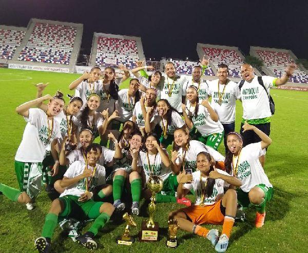 Antioquia Campeón Prejuvenil femenino 2019