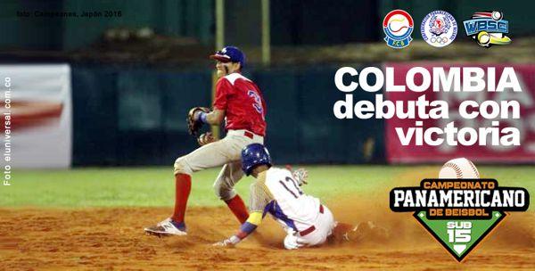 Beisbol Colombia debuta con victoria