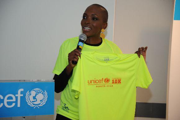 Belky Arizala embajadora Unicef