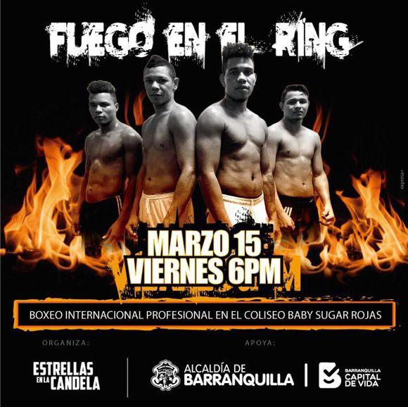 Boxeo Fuego en el Ring