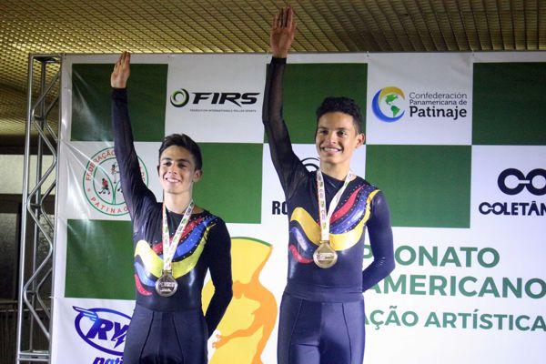 Brayan Carreño oro y Daniel Hernandez plata-Junior Varones - Figuras