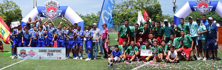 Campeones Caribe champions 2019 -Metrostar y Escuela Barranquillera