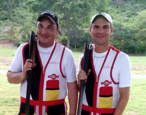 Caro y Vega oro en fosa olimpica equipos Juegos Nales 2015