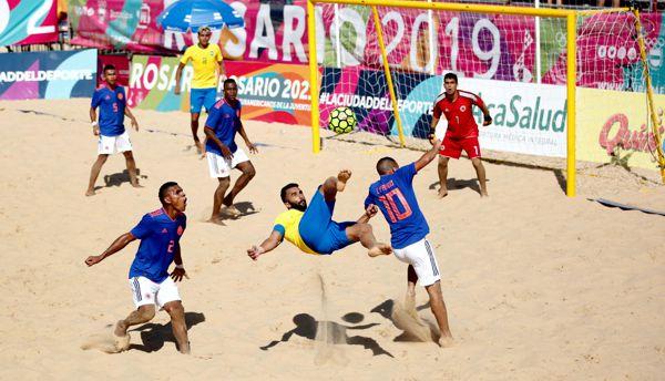 Colombia enfrentara a Paraguay por bronce futbol playa
