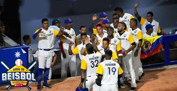 Colombia gana a Cuba Beisbol