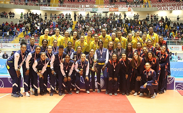 Colombia segundo en sudamericano femenino voleibol Perú