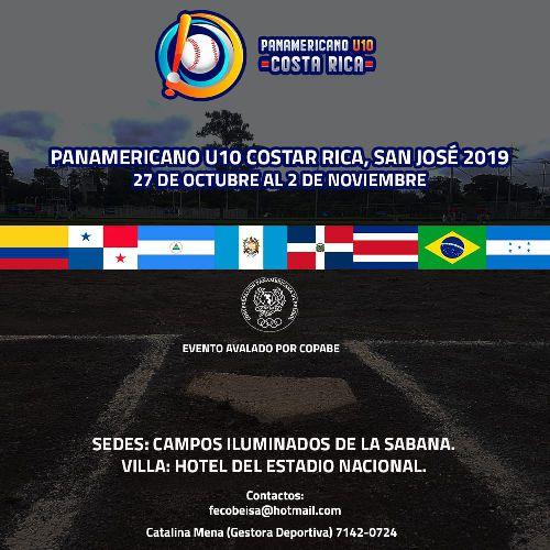 Colombia sub 10 en panamericano beisbol
