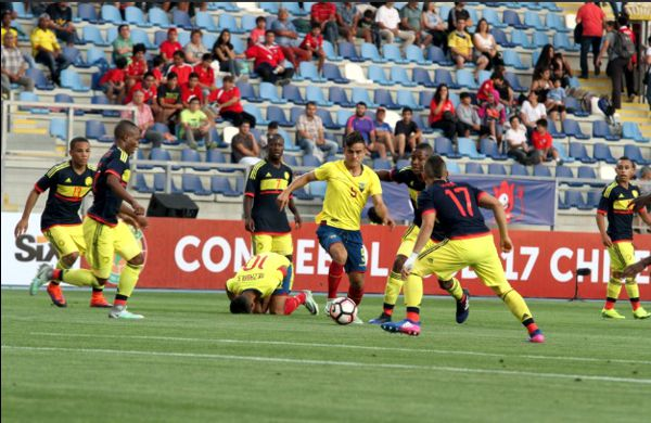 Colombia sub 17 vs Ecuador en Sudamericano