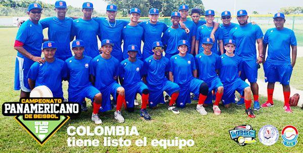Colombia tiene listo el equipo sub 15 beisbol panamericano
