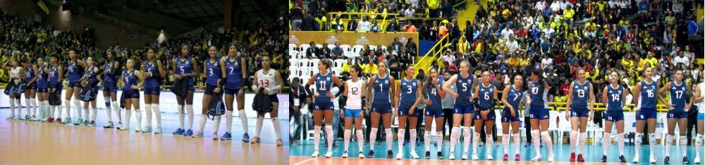 Colombia y Argentina voleibol