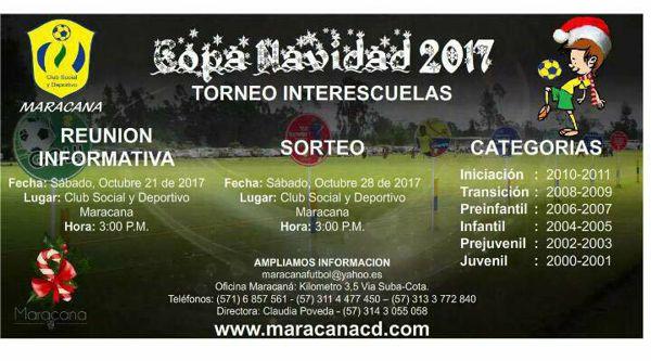 Copa Navidad torneo interescuelas 2017 afiche