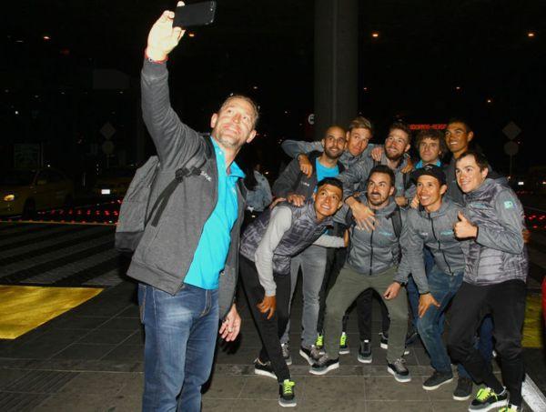 El team Astana llegó