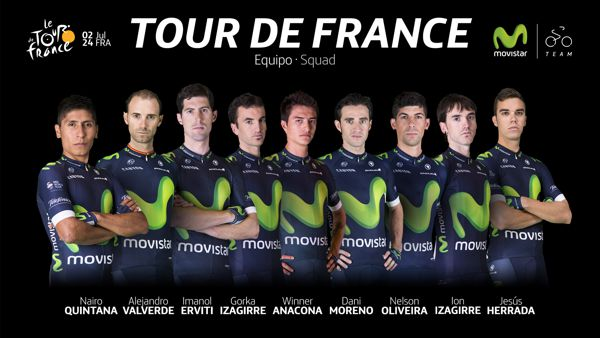 Equipo Movistar Tour de Francia