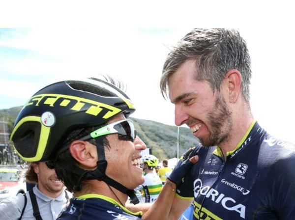 Esteban Chaves y el campeón del Herald Sun tour