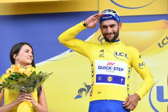 Fernando Gaviria primer lider Tour de Francia