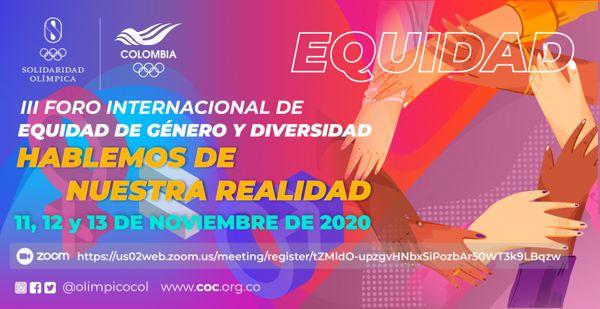 ABIERTAS LAS INSCRIPCIONES PARA EL III FORO INTERNACIONAL DE EQUIDAD DE GÉNERO Y DIVERSIDAD