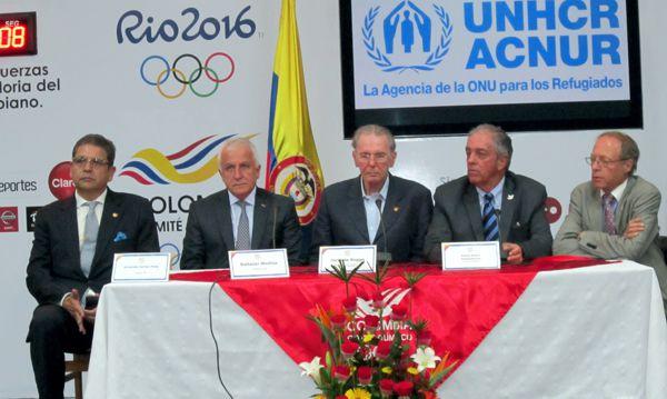 Jacques Rogge en rueda de prensa