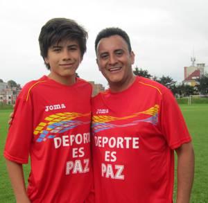 John Mario e hijo