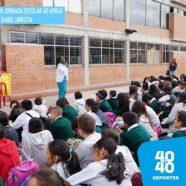 IED REPÚBLICA DE PANAMÁ DEBUTA EN 40 HORAS CON VISITA DE MEDALLISTA OLÍMPICA