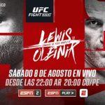 LEWIS Y OLEINIK EN LA ESTELAR DE UFC EN ESPN KNOCKOUT