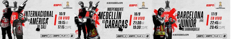 LA CONMEBOL LIBERTADORES 2020 REGRESA CON TRES EQUIPOS COLOMBIANOS A ESPN