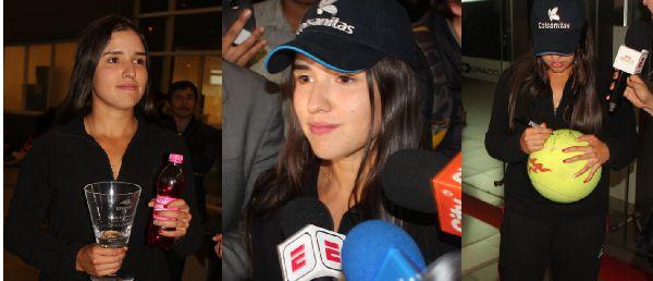 María Camila en el aeropuerto el Dorado