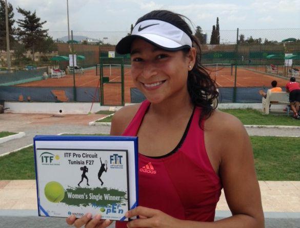 Maria Fernanda Herazo campeona en Hammamet