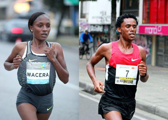 Mary Wacera y Lelia Feyisa