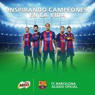 MILO Y NESQUIK LAS BEBIDAS OFICIALES DEL FC BARCELONA