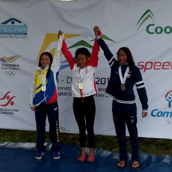 Natación aguas abiertas medalla de plata