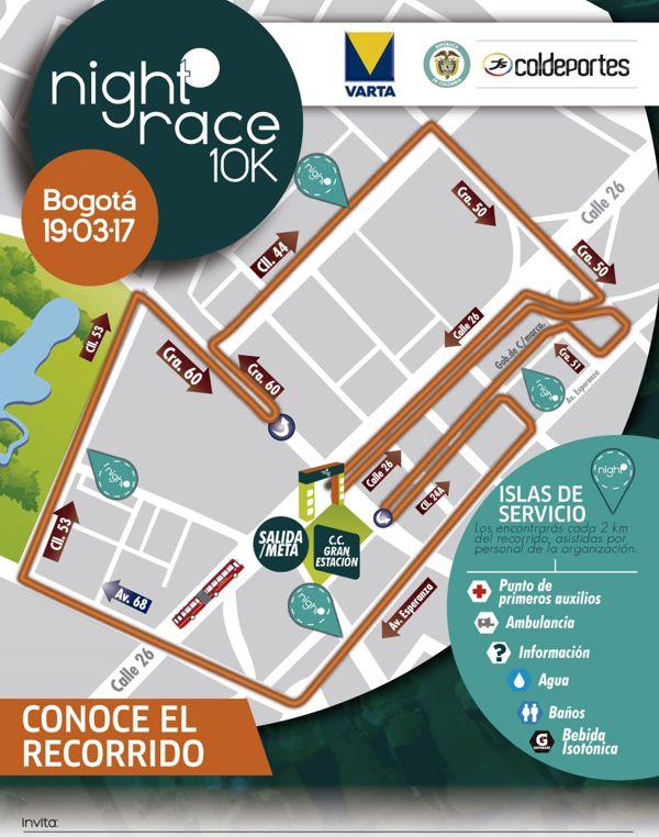 Night Race 2017 - Mapa