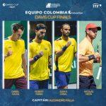 EQUIPO COLOMBIA COLSANITAS: NÓMINA CONFIRMADA PARA LA DAVIS CUP FINALS