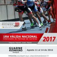 I VÁLIDA NACIONAL INTERCLUBES DE CARRERAS 2017
