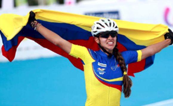 Patinaje viste de oro a Colombia Fabriana Arias