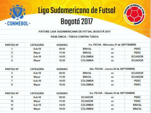 Programación Liga Sudamericana.