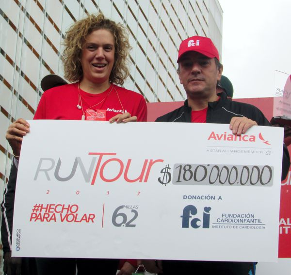 Run tour entrega cheque Cardioinfantil