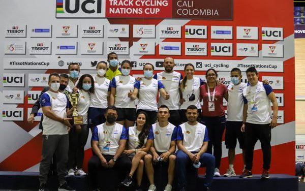SELECCIÓN COLOMBIA DE CICLISMO DE PISTA, CAMPEONA DE LA COPA DE NACIONES UCI 2021
