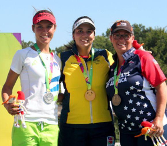 Sara López World Game medalla de oro