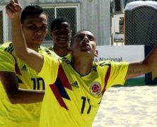 SEGUNDA VICTORIA DE LA SELECCIÓN COLOMBIA SUB-20 FÚTBOL PLAYA