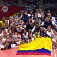 SELECCIÓN COLOMBIA DE VOLEIBOL LOGRA UN CUPO EN LA FINAL