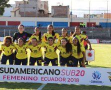 SELECCIÓN COLOMBIA 3A EN SUDAMERICANO FEMENINO SUB-20