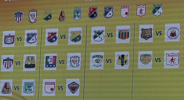 Sorteo Liga Aguila 2018