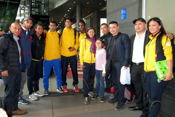 Taekwondistas llegaron de México