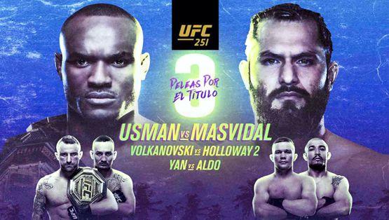 UFC 251 CONFIRMA SU CARTELERA ESTELAR CON EL COMBATE POR EL TÍTULO MUNDIAL DE PESO WELTER ENTRE KAMARU USMAN Y JORGE MASVIDAL